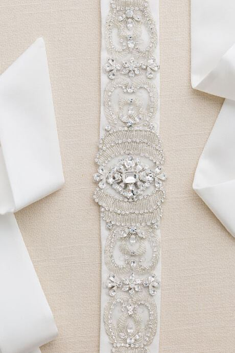 Satin diamond wedding belt